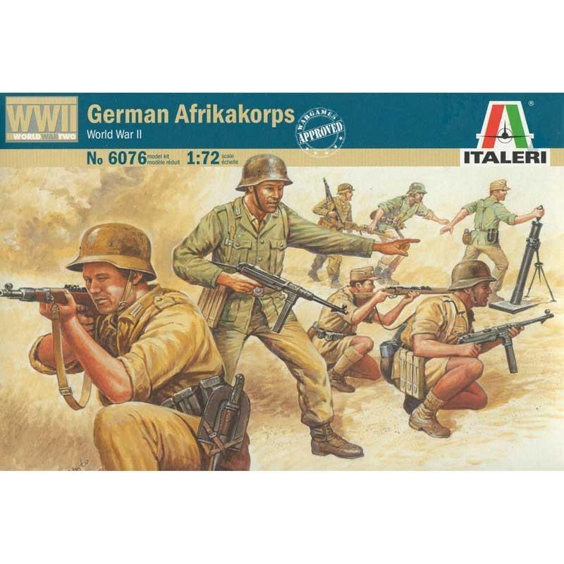 Italeri 6076. 1/72 Afrika Korps Alemanes