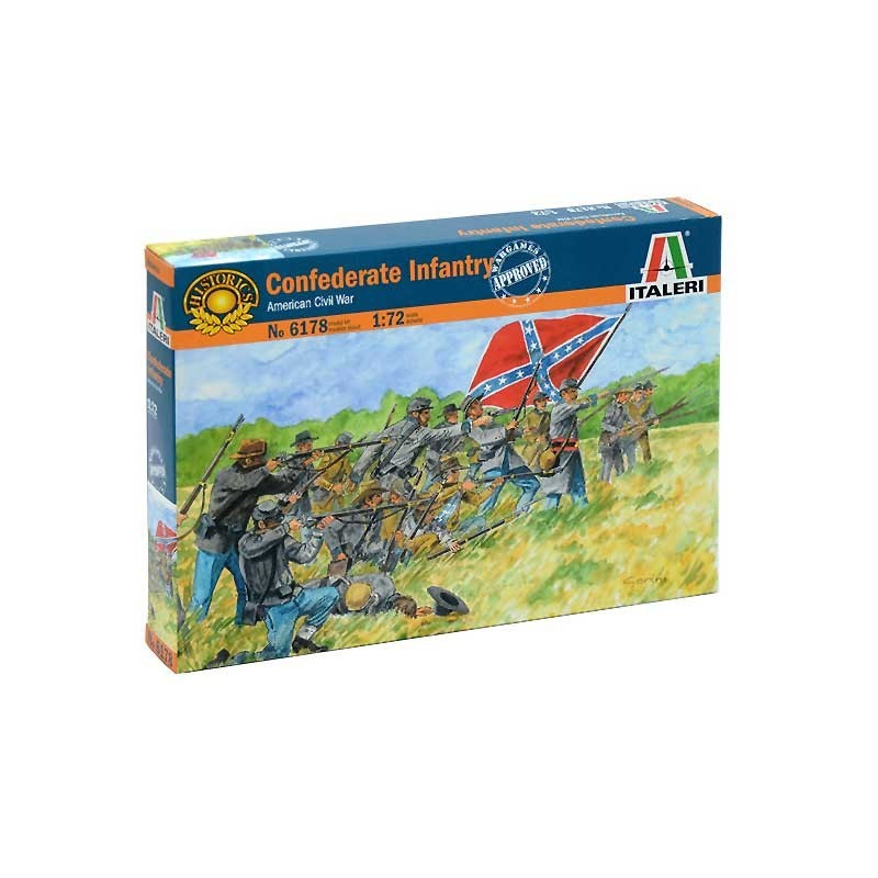 Italeri 6178. 1/72 Infantería Confederada