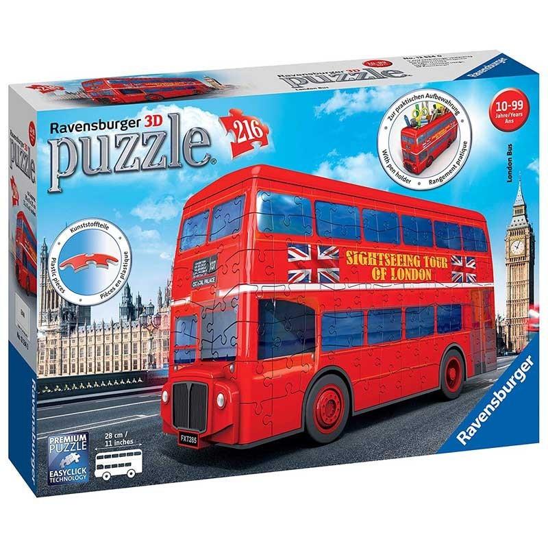 Ravensburger 12534. Puzzle 3D Bus Londres 216 Piezas