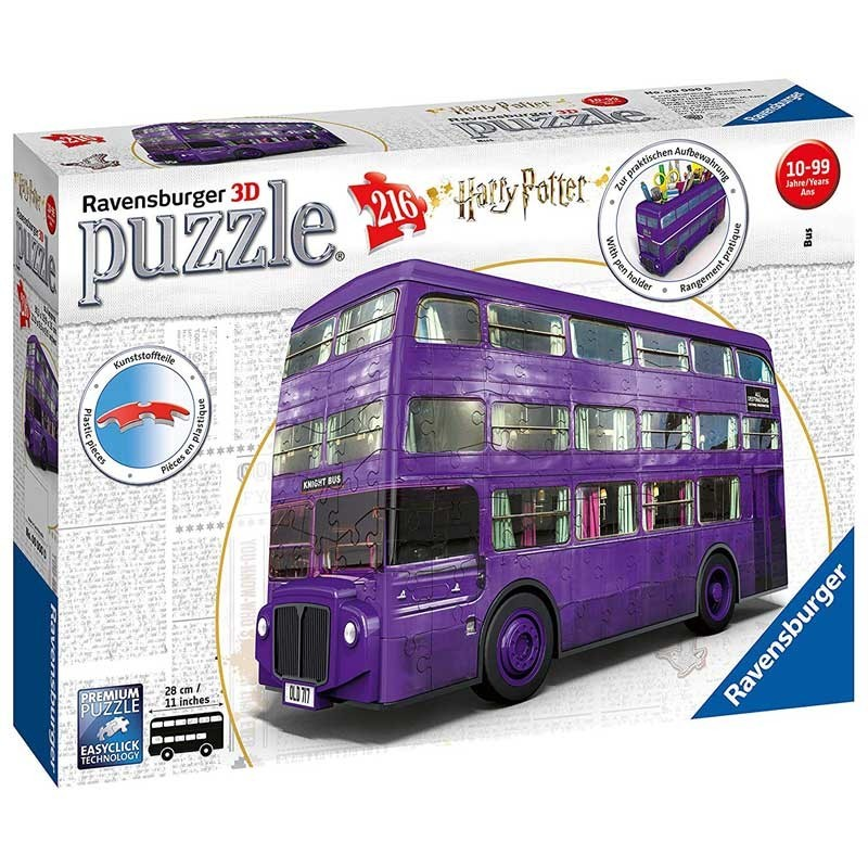 Ravensburger 11158. Puzzle 3D Bus Harry Potter 216 Piezas