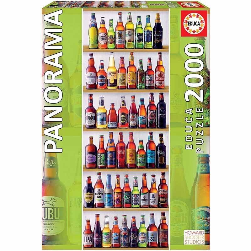 Educa 18010. Puzzle 1000 Piezas Cervezas del Mundo