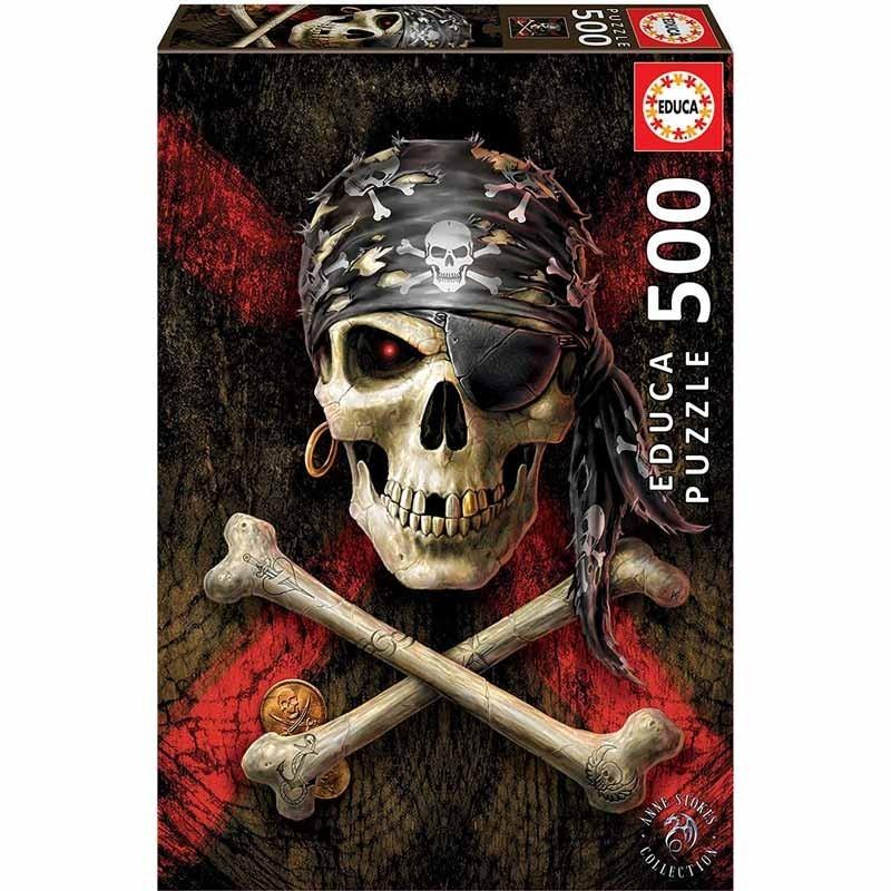 Educa 17964. Puzzle 500 Piezas Calavera Pirata