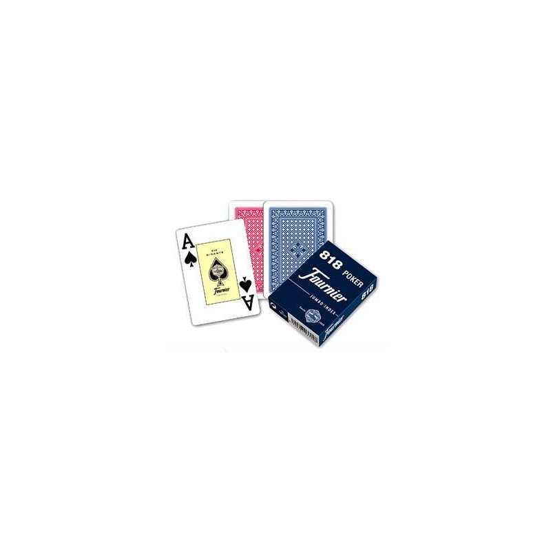 21643. Baraja naipes Poker 55 cartas Fournier 818