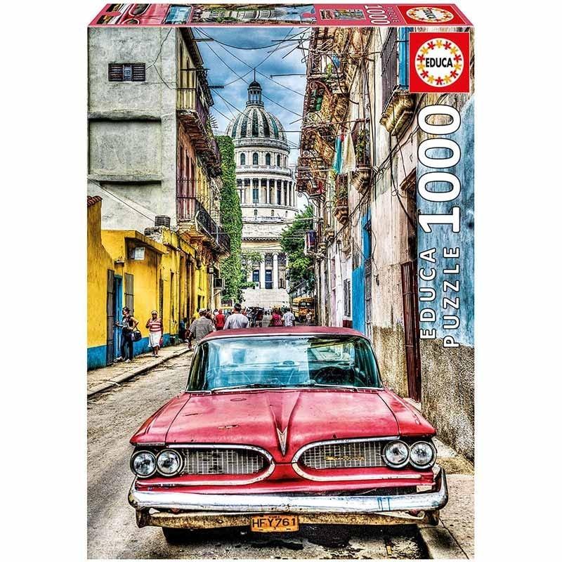 Educa 16754. Puzzle 1000 Piezas Coche en La Habana