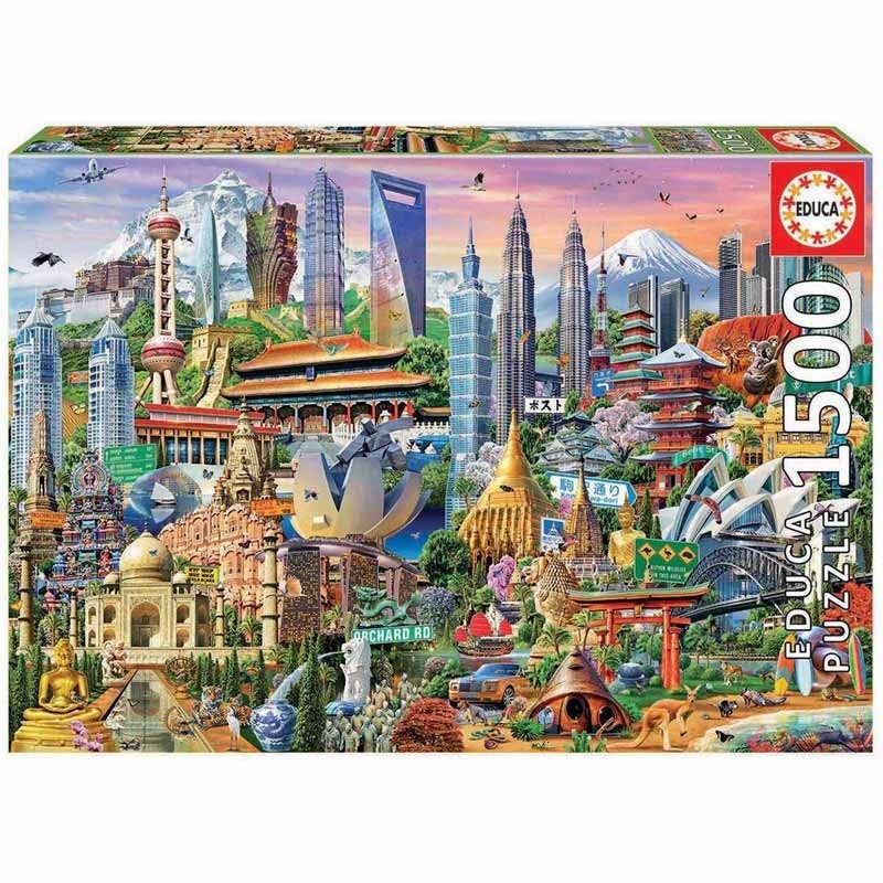 Educa 17979. Puzzle 1500 Piezas Símbolos de Asia