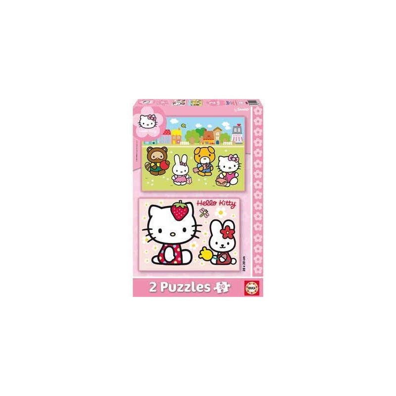 14219. Puzzle Educa 2x20 piezas, Hello Kitty