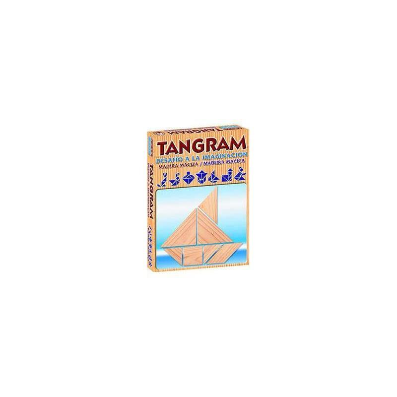 Juego de mesa Tangram de madera, Falomir