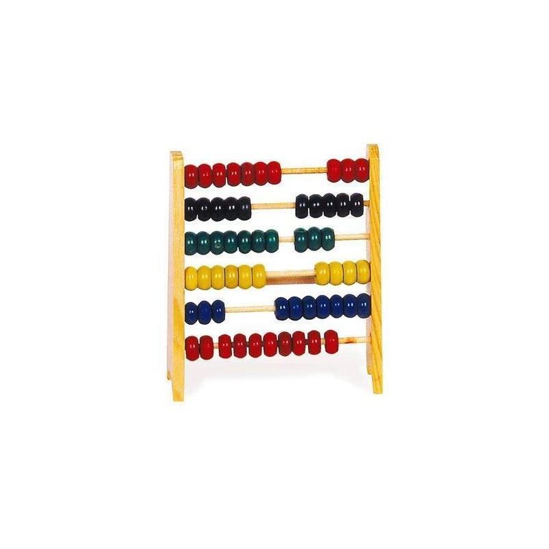 4011. Abaco pequeño de 6 filas de madera