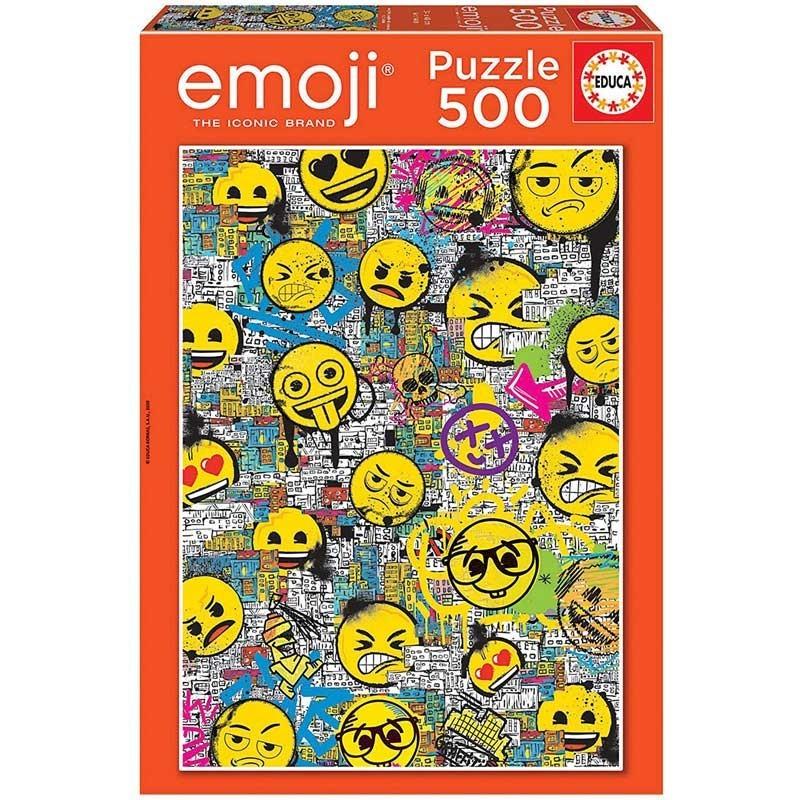 Puzzle 500 Piezas Emoji Graffiti