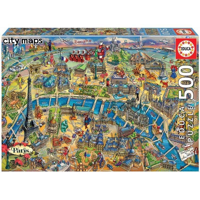 Puzzle 500 Piezas Mapa de París