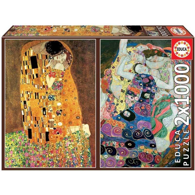 Puzzle 2x1000 Piezas El Beso y La Virgen
