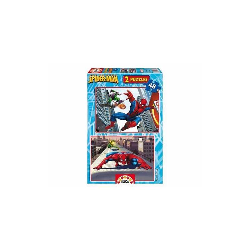 13670. Puzzle Educa 2x48 piezas, Spider-man Classic