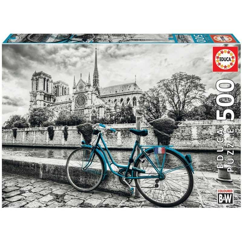 Puzzle 500 piezas Bicicleta cerca de Notre Dame