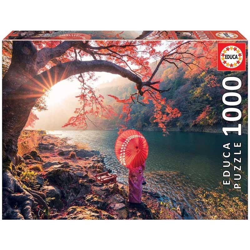 Puzzle 1000 Piezas Amanecer en el río Katsura