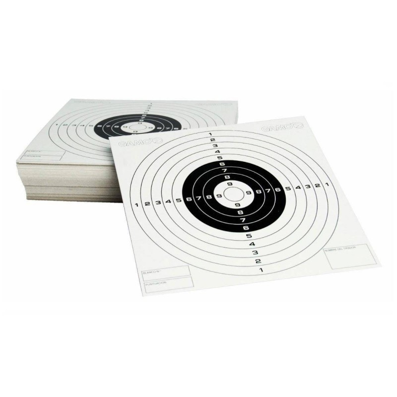 212106 Gamo. Caja 100 Dianas de papel Gamo