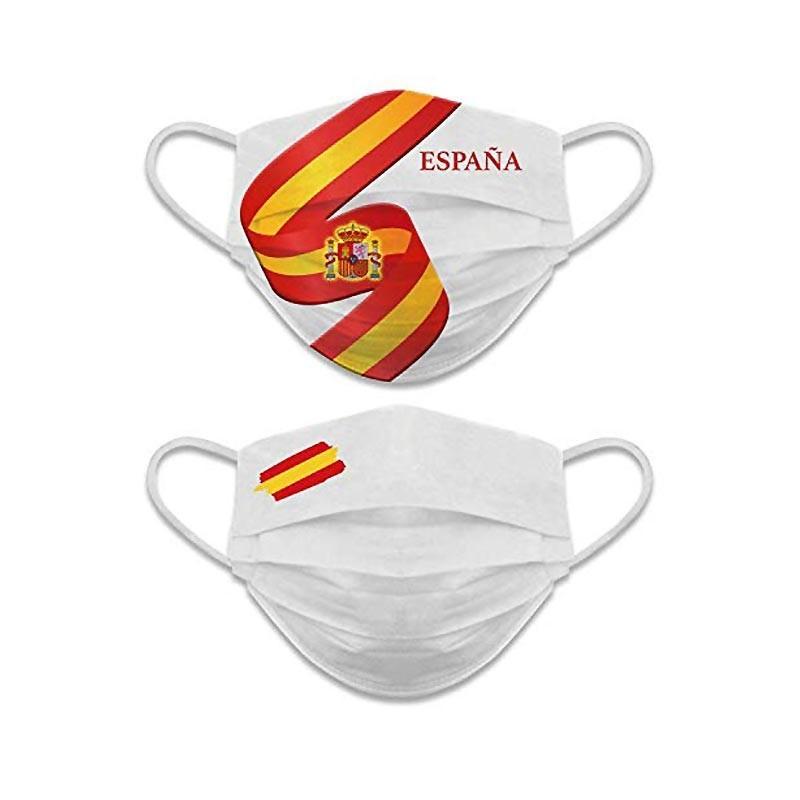 Mascarilla España Blanca Reversible