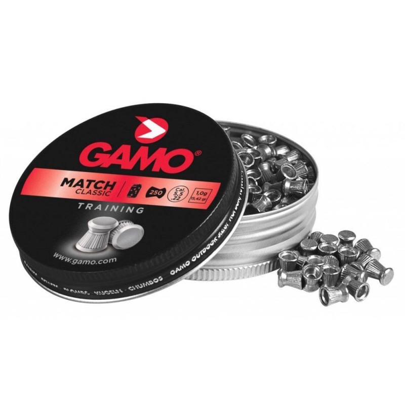 320025 Gamo. Lote 5 cajas x 250 Perdigones Match Calibre 5.5mm