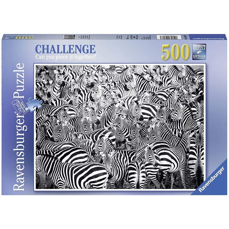 Puzzle 500 piezas Desafío de Cebras