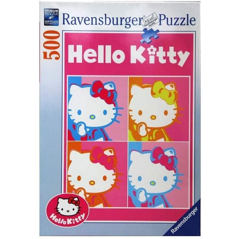 141036. Puzzle Ravensburger 500 piezas Hello Kitty, Pop Art