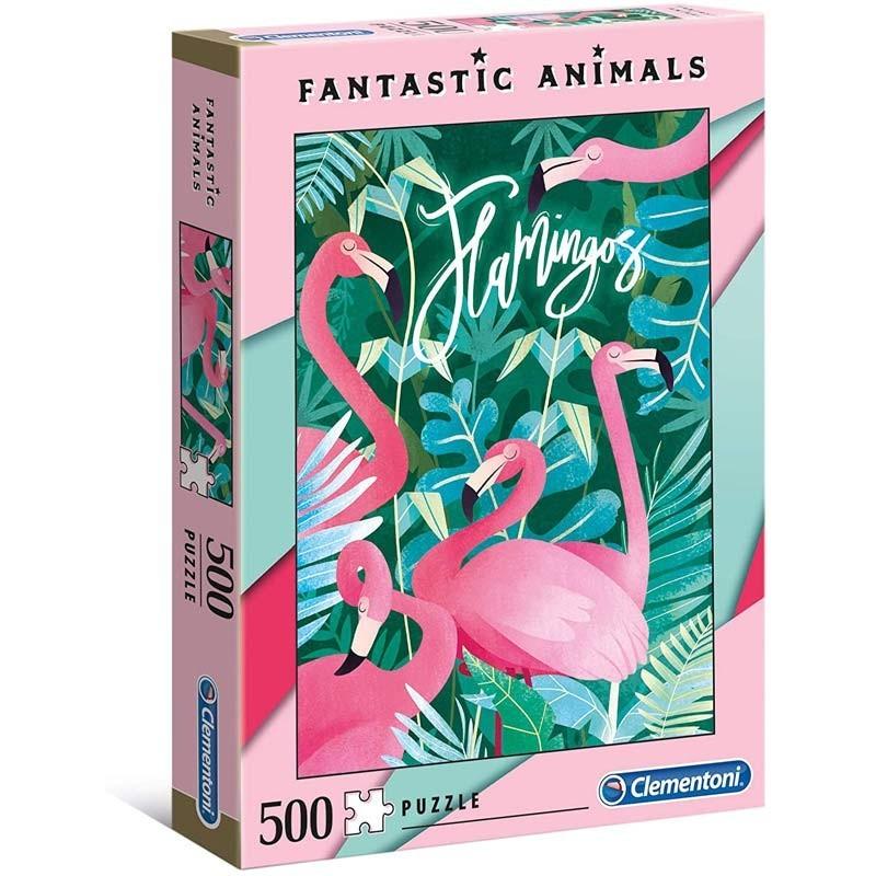 Puzzle 500 piezas Flamingos