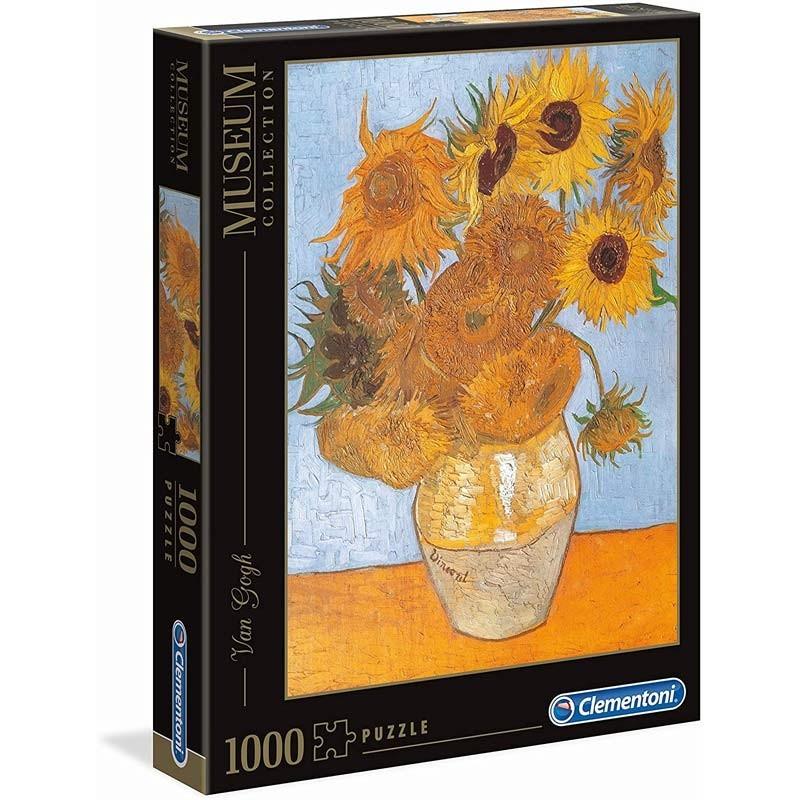31438. Puzzle Clementoni 1000 piezas Van Gogh: Los girasoles