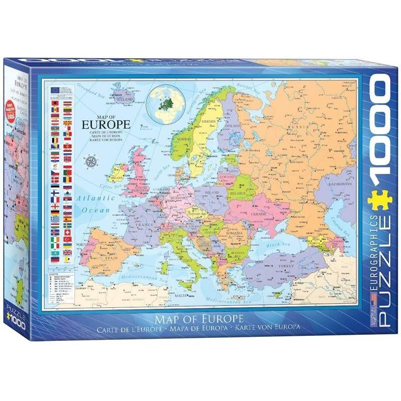 Puzzle 1000 piezas Mapa de Europa