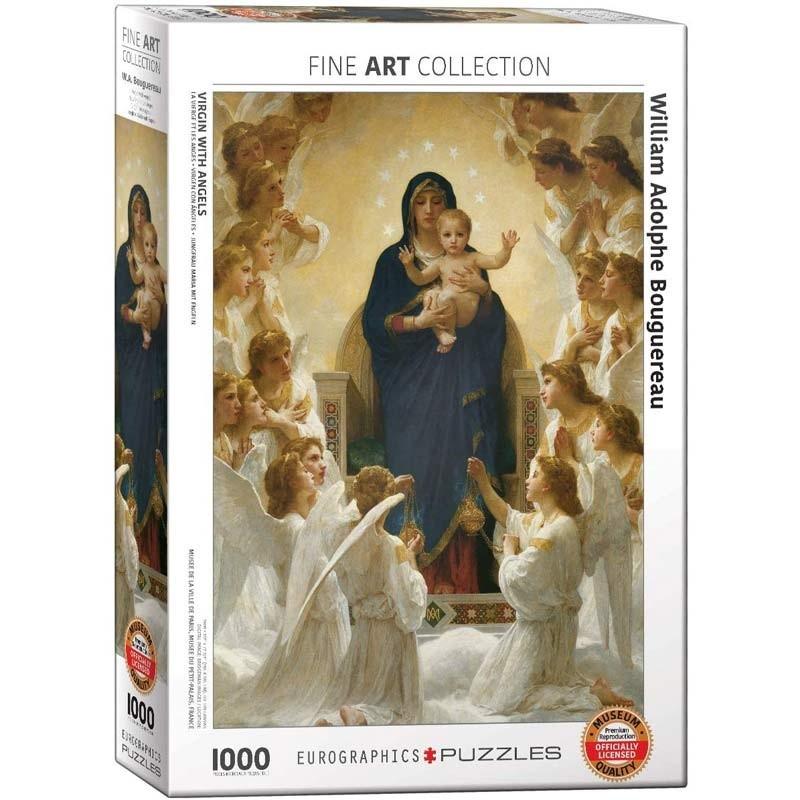 Puzzle 1000 piezas Virgen con Ángeles