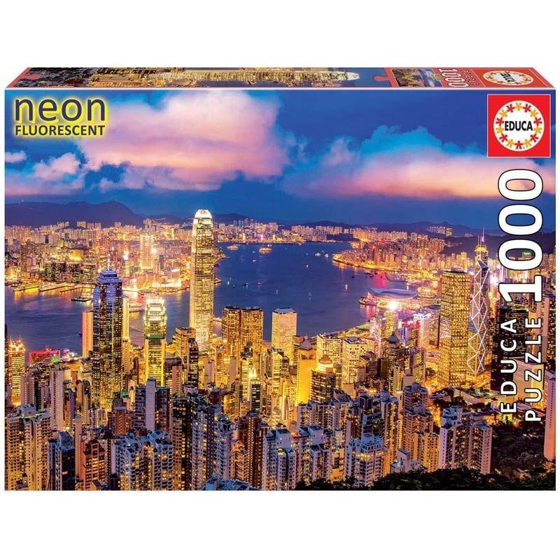 Puzzle 1000 piezas Hong Kong Neón
