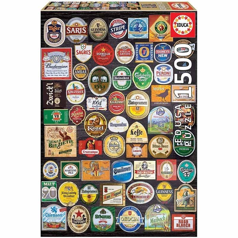 Puzzle 1500 piezas Etiquetas de Cerveza