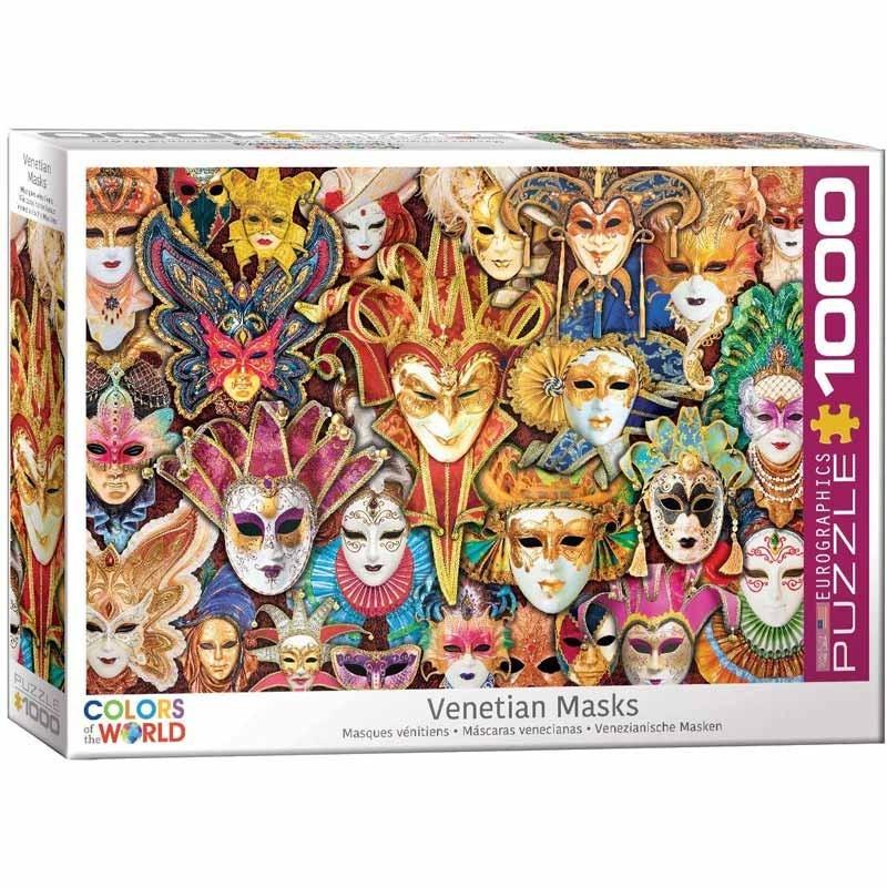 Puzzle 1000 piezas Máscaras Venecianas