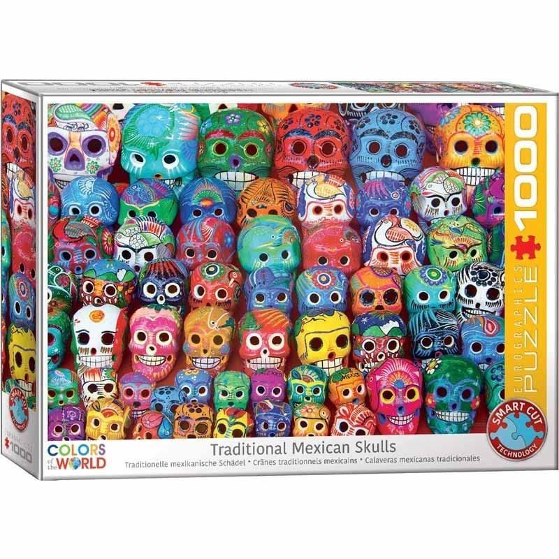 Puzzle 1000 piezas Calaveras Mexicanas Tradicionales