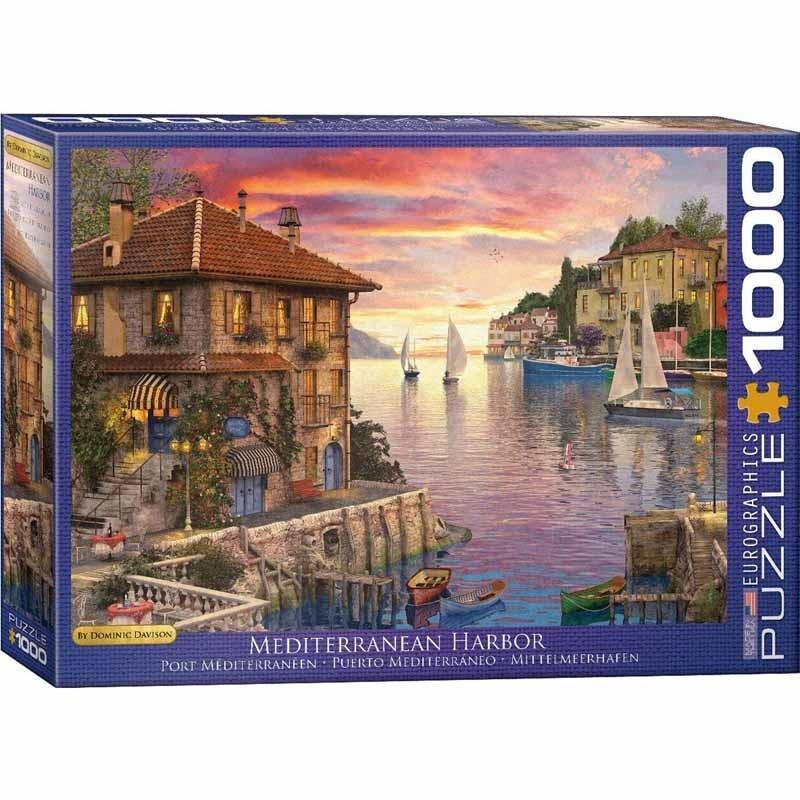 Puzzle 1000 piezas Puerto Mediterráneo