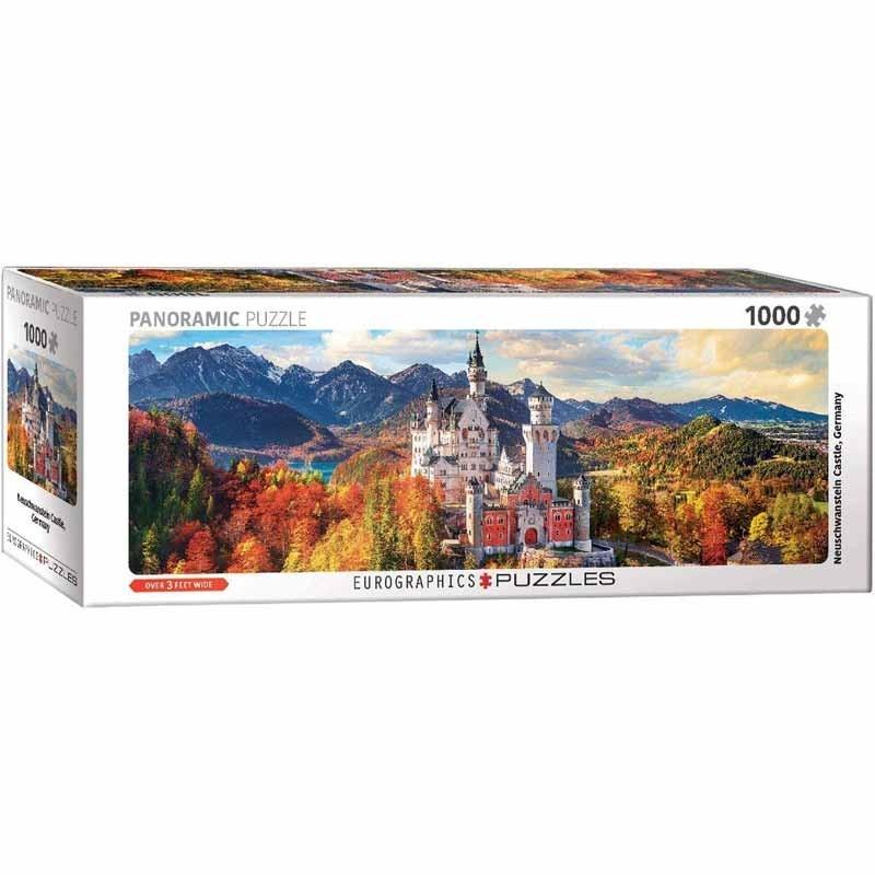 Puzzle 1000 piezas Castillo Neuschwanstein Panorámico