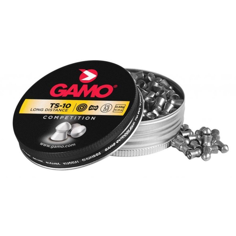 321748 Gamo. Lote 5 cajas x 200 Perdigones TS-10 Calibre 4.5mm