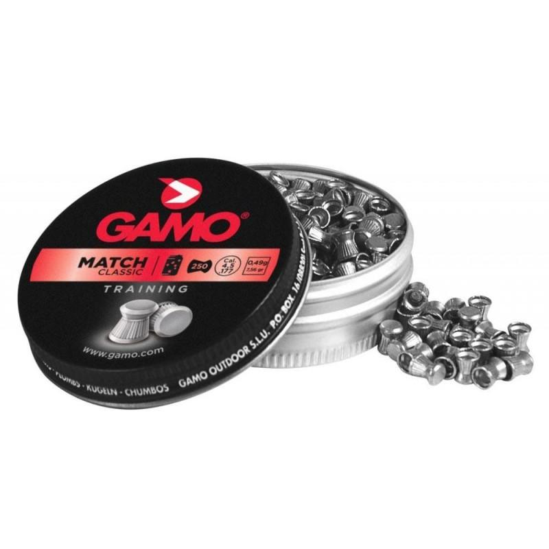320024 Gamo. Lote 5 cajas x 250 Perdigones Match Calibre 4.5mm