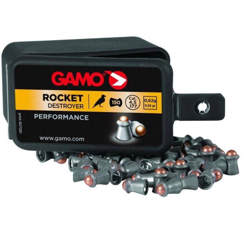 321284 Gamo. Lote 5 cajas x 150 Perdigones Rocket Calibre 4.5mm