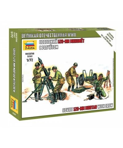 1/72 Equipo Soviético con Mortero 120mm