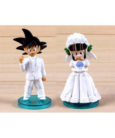 Novios Dragon Ball Z Boda Goku y Chichi 8cm. Tarta de boda