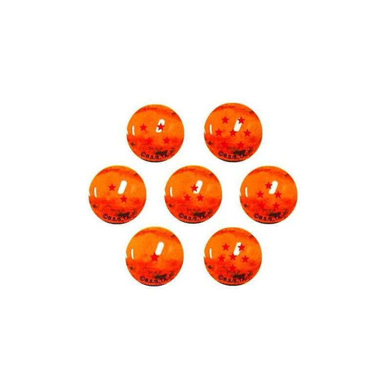 Canicas Dragonball Z, 7 bolas de cristal 22mm Estrellas