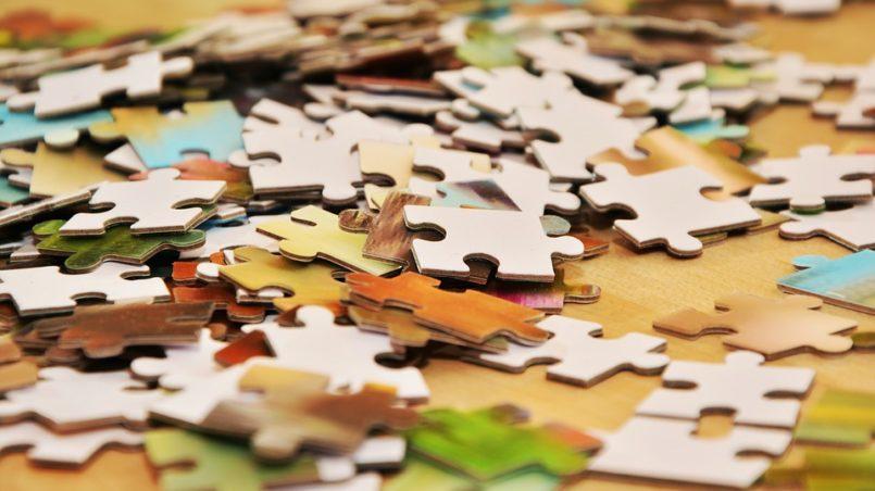 Decoración puzzle